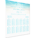 PixDezines Chandelier/Beach/Seating Chart Canvas Print