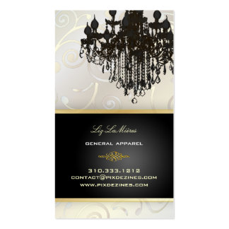 PixDezines Chandelier cupcakes swirls pearly white Business Card Template
