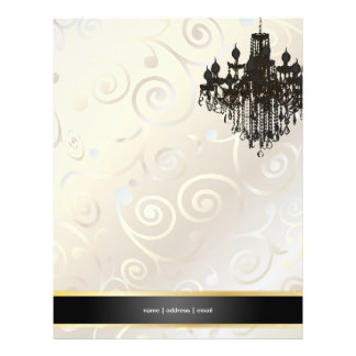 PixDezines Chandelier cupcakes swirls/pearly white Flyer