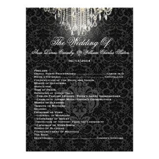 PixDezines chandelier/desiree damask/program Personalized Invitations