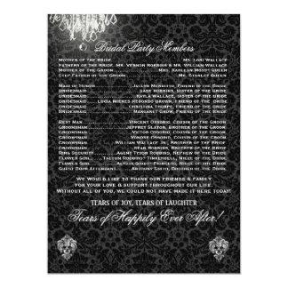 PixDezines chandelier/desiree damask/program 6.5x8.75 Paper Invitation Card
