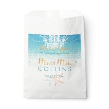 Beach Themed PixDezines Chandelier/Light Strings/Beach/Starfish Favor Bag