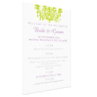 PixDezines chandelier wedding program Canvas Print