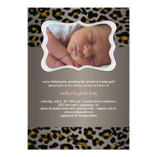PixDezines cheetah/birth announcement/shower