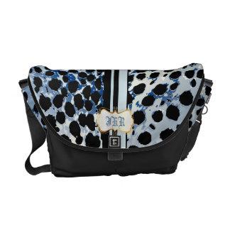 PixDezines cheetah spots/monogram Messenger Bags