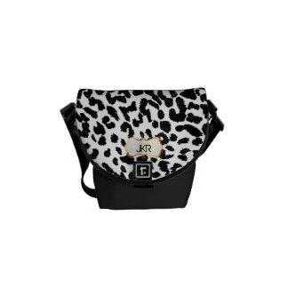 PixDezines cheetah spots/monogram Courier Bags