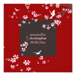 PixDezines Cherry blossom/diy background color Custom Announcements