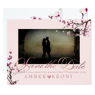 PixDezines Cherry Blossoms Save the Date Card
