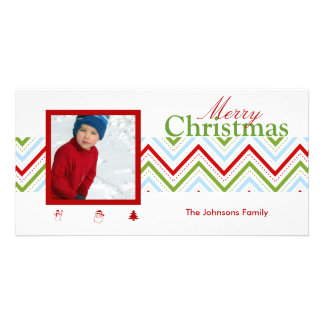 PixDezines Chevron Christmas Card
