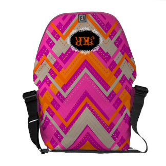 PixDezines Chevron/DIY background Messenger Bag