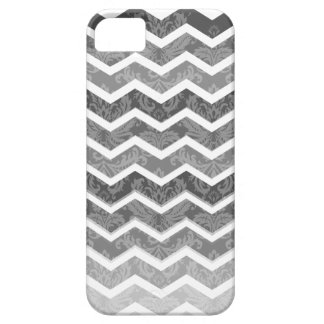 PixDezines chevron shades of grey/diy background iPhone SE/5/5s Case