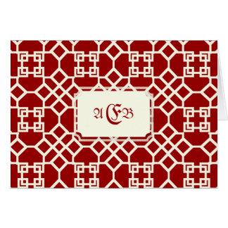 PixDezines Chinoise Trellis/DIY red background Card