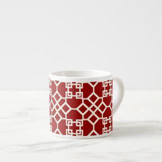 PixDezines Chinoise Trellis/DIY red background Espresso Cup