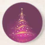 PixDezines Christmas Tree/hot pink Coasters