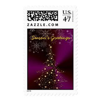 PixDezines Christmas Tree  Season's Greetings Postage