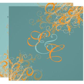 PixDezines citrus swirls/diy background Card