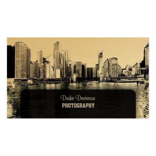 PixDezines City Scape, Lakeshore, Chicago Business Cards