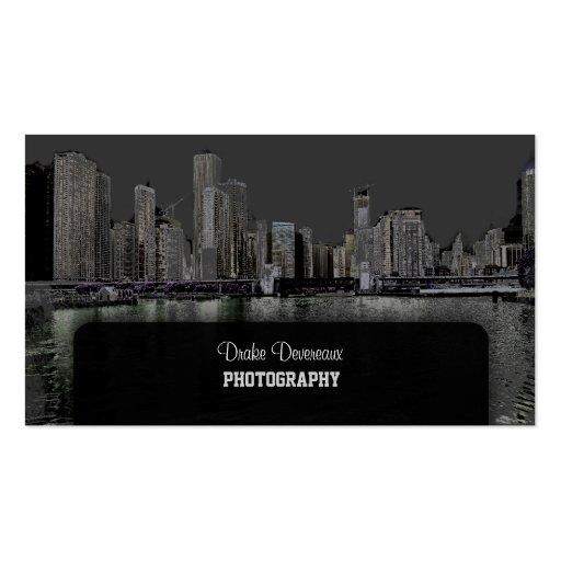 PixDezines City Scape Lakeshore Chicago grey Business