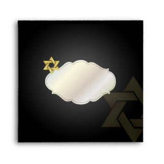 PixDezines Classic Bar Mitzvah/black+gold Envelope