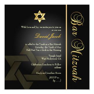 PixDezines Classic Bar Mitzvah/gold+black Card