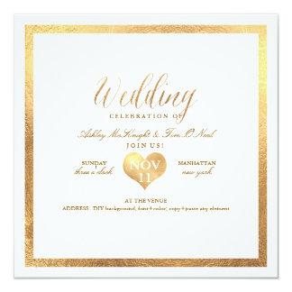 PixDezines Classic Golden Heart/faux gold frame Card