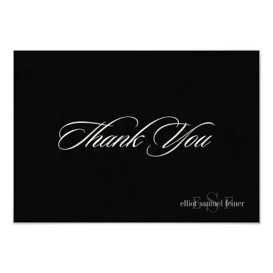 PixDezines Classic Monogram Thank you cards, Flat Card