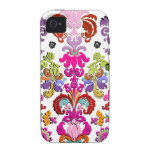 PixDezines colorful Isabella Damask/DIY color Case For The iPhone 4