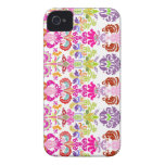 PixDezines colorful Isabella Damask/DIY color Case-Mate iPhone 4 Cases