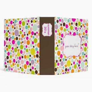 PixDezines colorful polka dots/diy background Binder