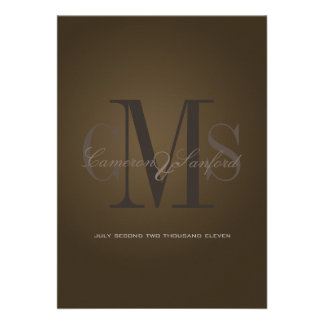 PixDezines Contemporary + classy/cafe noire Personalized Invite