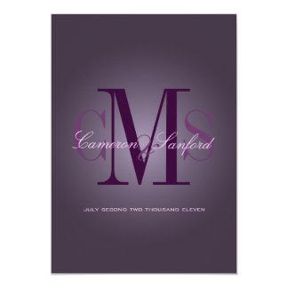 PixDezines Contemporary + classy/plum 5x7 Paper Invitation Card