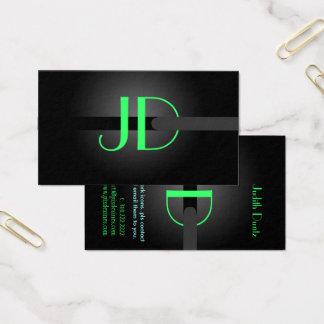 PixDezines Cool Neon Lights Monogram/diy color Business Card