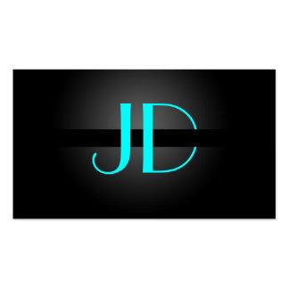 PixDezines Cool Neon Lights Monogram/DIY color Business Card Templates