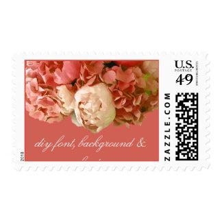 PixDezines coral peonies+hydrangeas Stamp