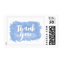 PixDezines cornflower blue watercolor thank you Postage
