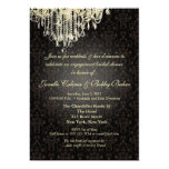 PixDezines Crystal Chandelier+arianna damask Personalized Announcements
