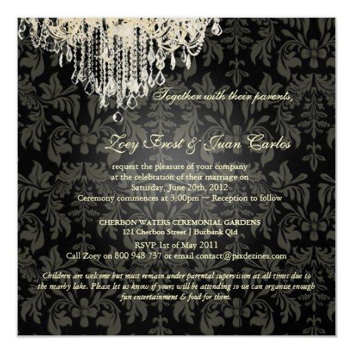 PixDezines Crystal Chandelier + Baroque Damask Card