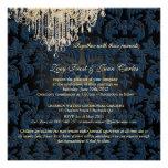 PixDezines Crystal Chandelier + Baroque Damask Custom Invites