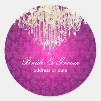 PixDezines crystal chandelier baroque damask Sticker