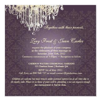 PixDezines Crystal Chandelier + Celine Damask Card