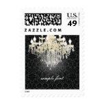 PixDezines crystal chandelier/DIY background color Postage