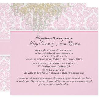 PixDezines Crystal Chandelier + Moiré Damask Card