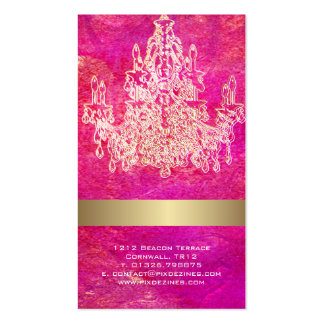 PixDezines crystal chandelier/watercolor affects Business Card Templates