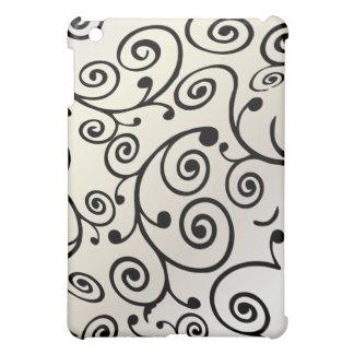 PixDezines Cupcake Swirls, Faux Pearl+Black iPad Mini Cases