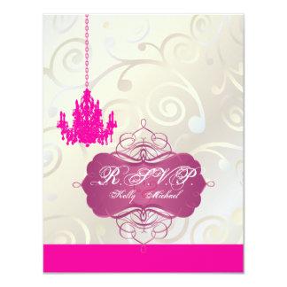 PixDezines Cupcake Swirls + Pink Chandelier RSVPs Personalized Announcement