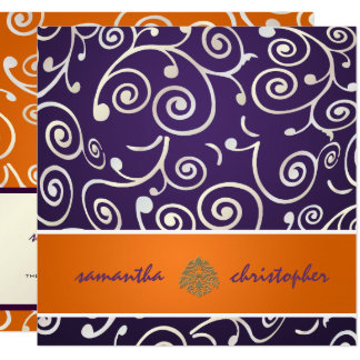 PixDezines Cupcakes Swirls/purple+orange Card