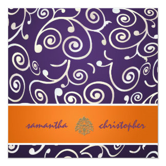PixDezines Cupcakes Swirls/purple+orange Card