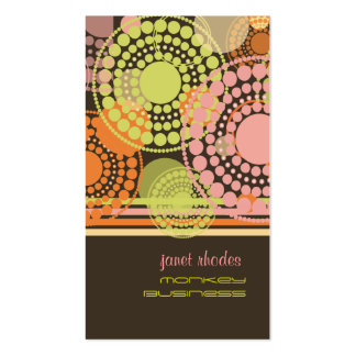 PixDezines Customizable retro dots Double-Sided Standard Business Cards (Pack Of 100)