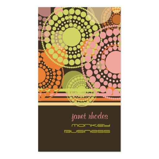 PixDezines Customizable retro dots Business Card