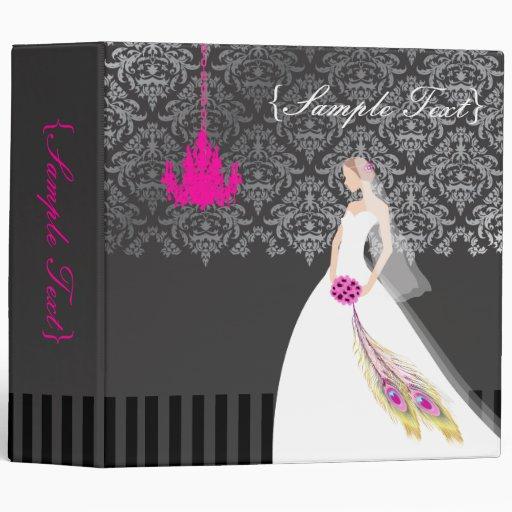 PixDezines Customize it, Here Comes the Bride Vinyl Binders